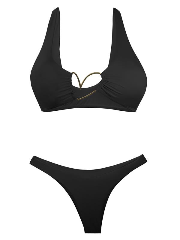 B100H/P100/Ns-C Bikini Top Heart Nude Shiny - Liliana