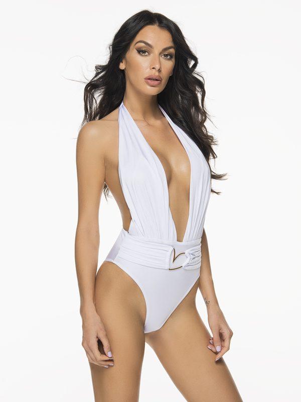 Liliana Montoya Trikini Azalea Shiny Nude One Piece Bikini