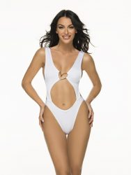 T110/Ns Trikini Shell Shiny White Nude - Liliana Montoya Swim